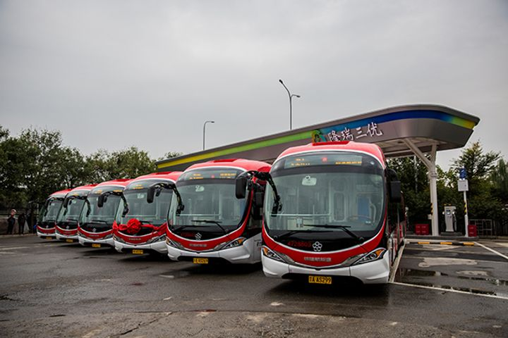 Beijing's Largest Electric Bus Charging Station Starts Operations, Can Charge 14 Buses Simultaneously