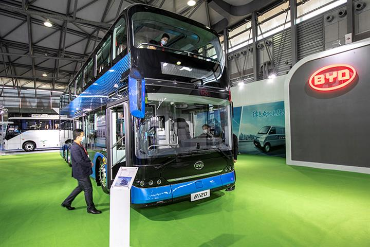BYD's Shares Jump to All-Time High After Winning Biggest Electric Bus Deal Abroad