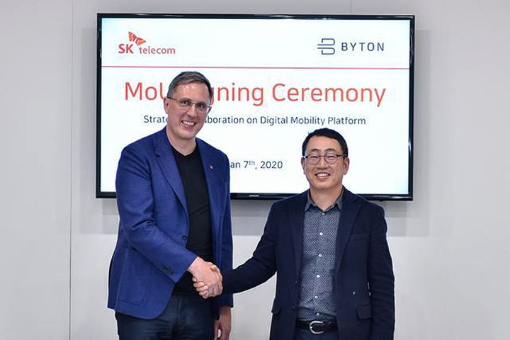 China's Byton, SK Telecom to Fine-Tune In-Car Digital Experience for South Korean Market