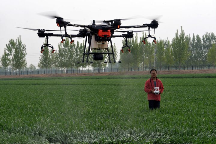 China's DJI Eyes Bigger Fields With Agricultural Drone T20