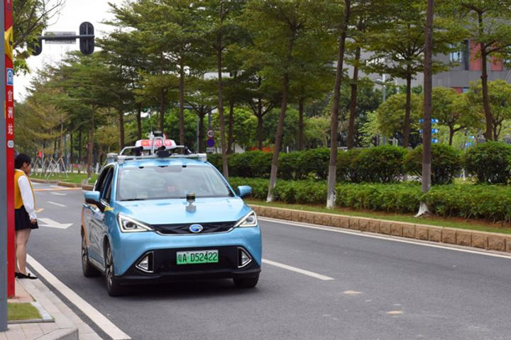 China's First Self-Driving Taxi Starts Testing in Guangzhou