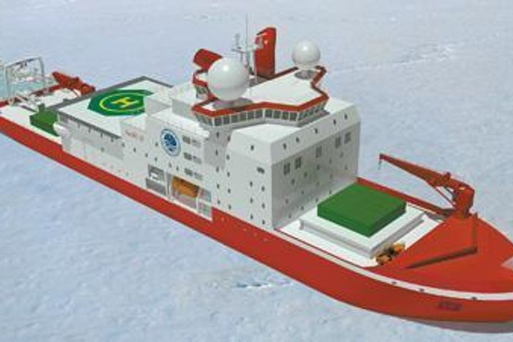 China Starts Construction of Its First Home-Grown Polar Icebreaking Ship, Xue Long-2