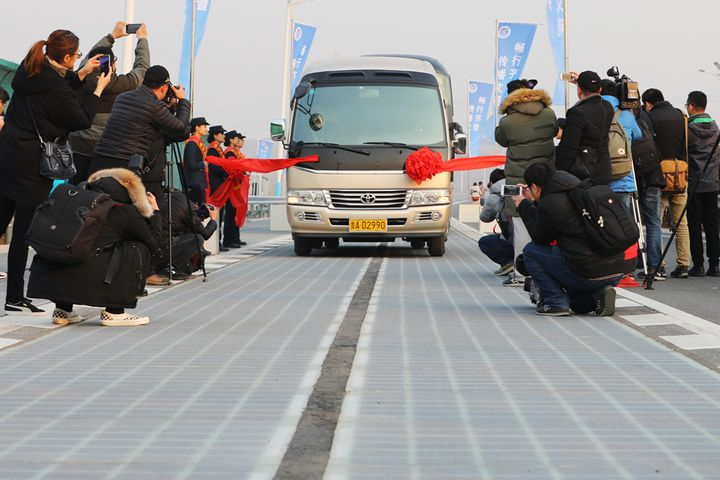China Unveils Power-Generating Solar Highway