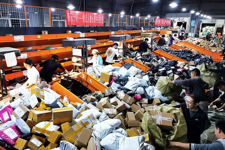Chinese Delivery Firms Face Challenge of More Parcels Than Ever Over Double 11