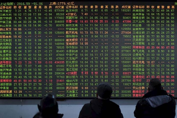 Chinese Stocks Extend Losses in Afternoon Trading