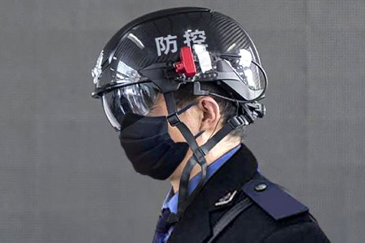 Chinese Tech Firm Debuts Five-Meter Fever-Finding Smart Helmet