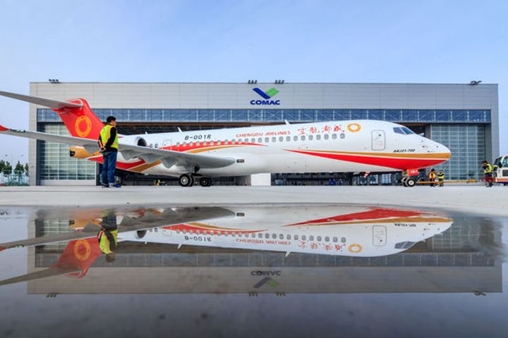 COMAC Delivers Third ARJ21 Plane to Chengdu Airlines, First Since Beginning Mass Production