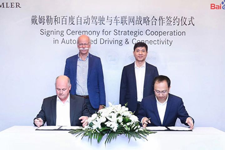 Daimler, Baidu Shore up Ties in Autonomous Driving, Vehicle Connectivity