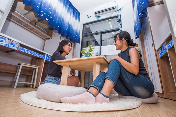 For Less Than USD4 Per Night, You Can Have a Bed, a Cafeteria, and a Library in Chengdu
