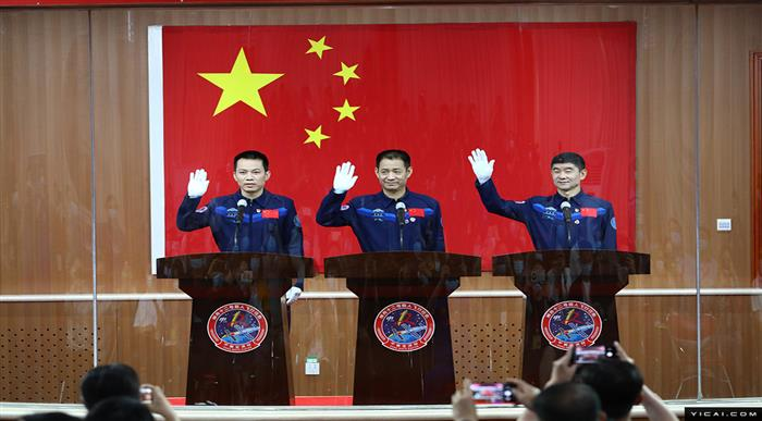 [In Photos] China Sends Astronauts Into Orbit to Build Country's First Space Station