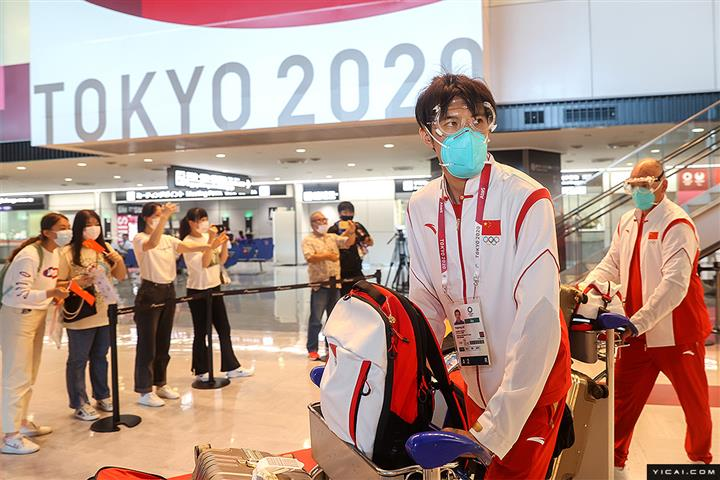 [In Photos] More Chinese Athletes Arrive in Tokyo for Olympic Games