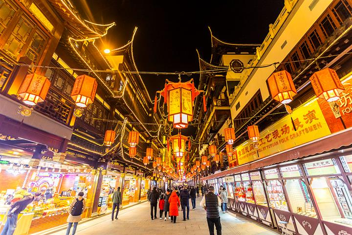 [In Photos] Shanghai's Yu Garden Gets Lantern Makeover Ahead of Chinese New Year