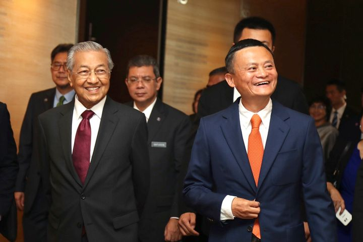 Malaysia's Mahathir Meets Jack Ma at Alibaba's HQ