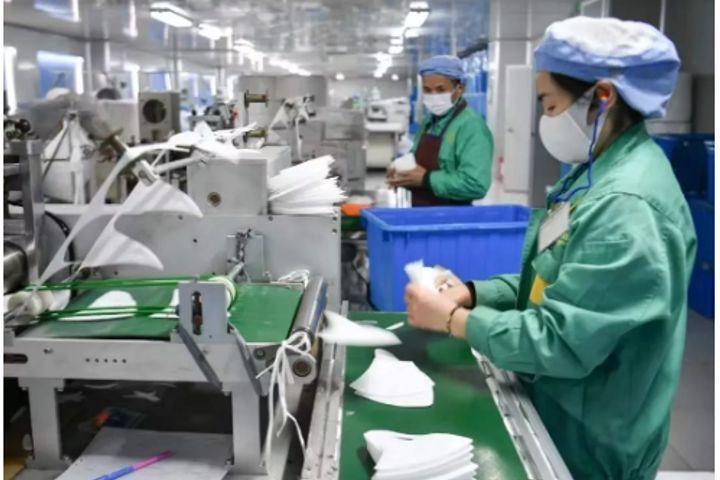 Mask Production in China Resumes 60% Capacity