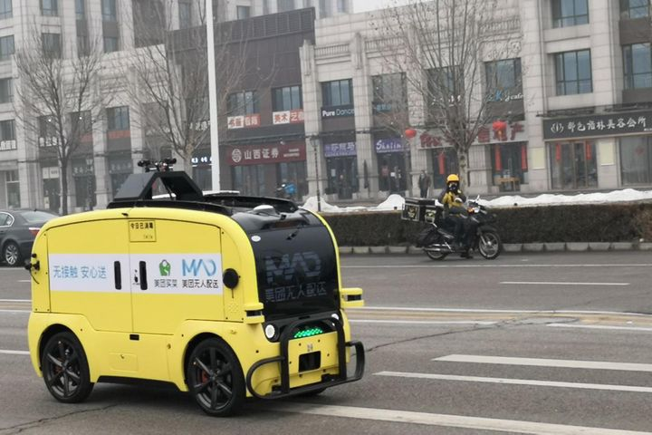 Meituan Dianping Starts Unmanned Grocery Deliveries on Beijing's Open Roads