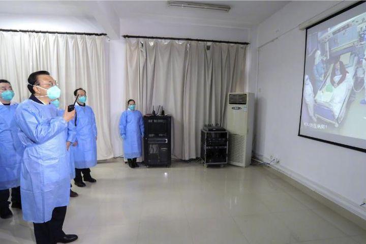 Premier Li Keqiang Inspects Work to Contain Novel Coronavirus in Wuhan
