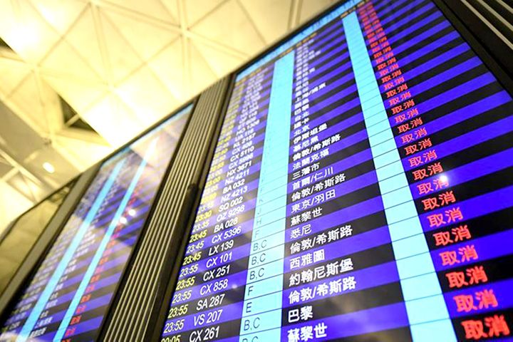 Shares in Chinese Airports Near Hong Kong Soar as Protests Keep Planes Grounded