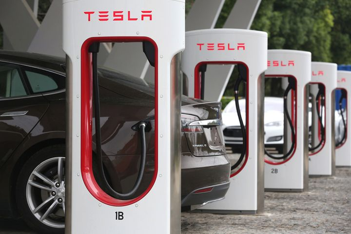 Tesla Rolls Out Its First Asian V3 Pile at Shanghai Super Charging Station