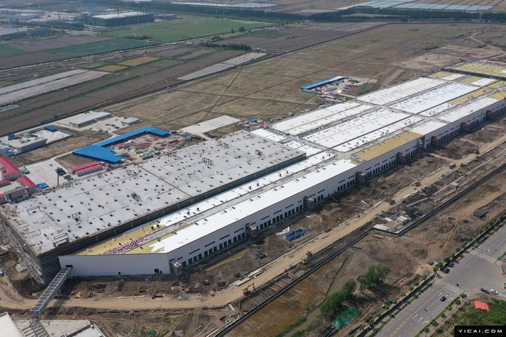 Tesla's Shanghai Gigafactory Looks Nearly Complete Outside