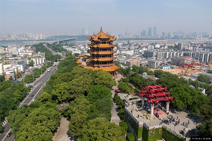 Wuhan Tourist Spot Yellow Crane Tower Partially Reopens to Visitors